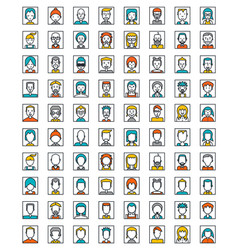 Mega set of avatars flat style design vector