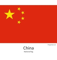 National flag of china with correct proportions vector