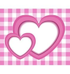 paper pink hearts vector image vector image