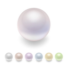 pearls set vector image