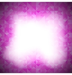 Pink Background with Geometric Triangles vector image