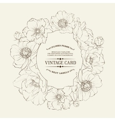 Poppies vintage card vector