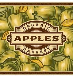 Retro apple harvest label vector