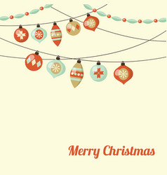 retro christmas greeting card inivtation with vector image vector image