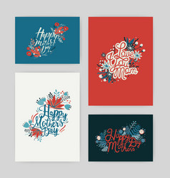 set of postcards with inscription happy mother s vector image vector image