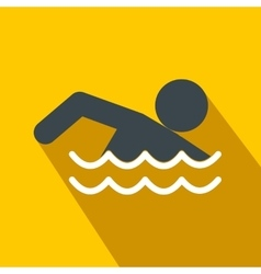 Swimmer flat icon vector