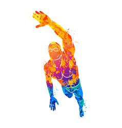Swimming logo sport vector
