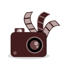 Film strip camera and movie design vector