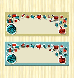 Internet Communication Banners vector image