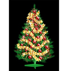 Decoration christmas tree vector