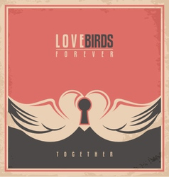 Love birds unique creative concept vector image