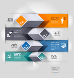 3d business diagram infographics template vector image