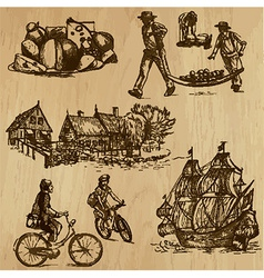 Traveling holland - an hand drawn pack vector