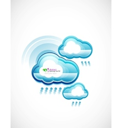 Blue technology cloud vector