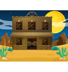 A big building at the desert vector image vector image