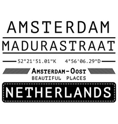 Amsterdam t shirt poster deishn vector