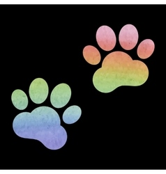 Animal tracks watercolor vector