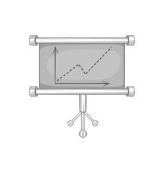 Board with statistics icon black monochrome style vector