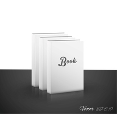 Book on white vector image vector image