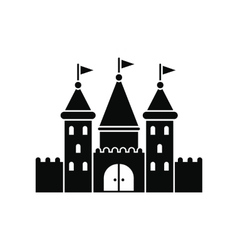 Castle black simple icon vector