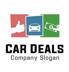 Deals car design vector