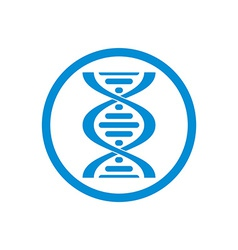 Dna icon isolated on white background vector