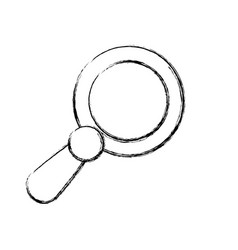 Figure magnifying glass icon design vector