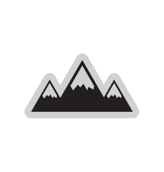 Flat web icon on white background mountains vector image vector image