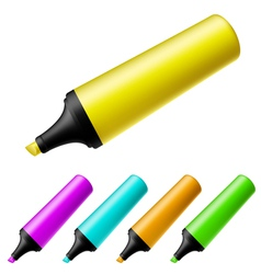 Highlighter set vector image