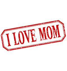 I love mom label vector