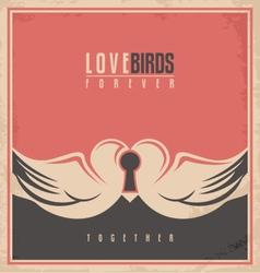 Love birds unique creative concept vector image vector image