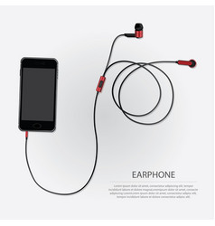Music earphones with telephone vector
