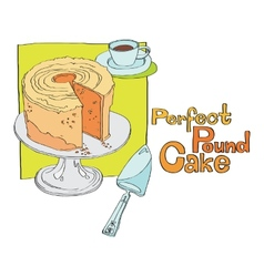 Perfect pound cake vector