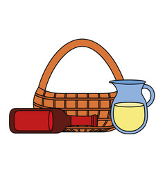 picnic basket design vector image