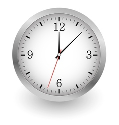 Realistic of wall clock vector image vector image