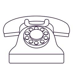 Retro phone technology design vector