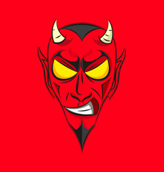 Smiling devil head vector