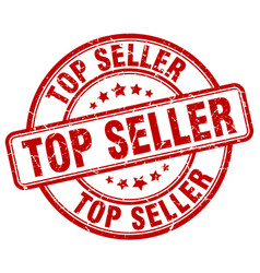 Top seller red grunge round vintage rubber stamp vector