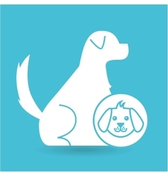Veterinary clinic concept dog character vector