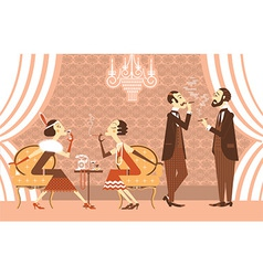 vintage party vector image