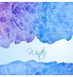 Winter watercolor background vector image vector image
