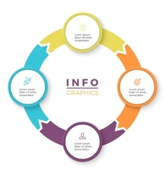 Circular arrows for infographics Diagram with 4 vector image