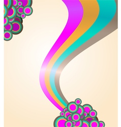 105abstract ribbon and circles background vector