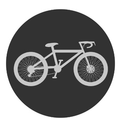 Bike button on white vector