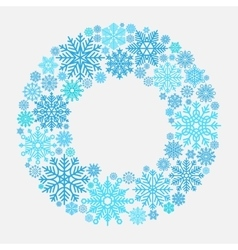 Snowflake wreath for Christmas invitation vector image