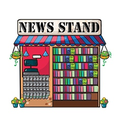 A newspaper shop vector