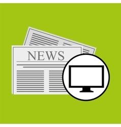 Concept digital news headline icon vector