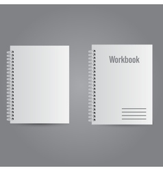 Two white realistic notebooks vector