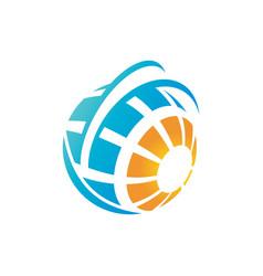 abstract logo concept vector image