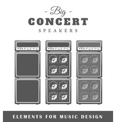 Professional live music speaker vector